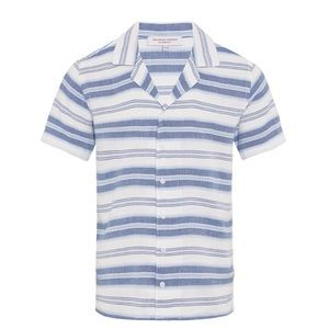 Orlebar Brown Mazanine Port Stripe Resort Shirt